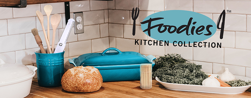 Foodies Brand Shot products in kitchen setting.